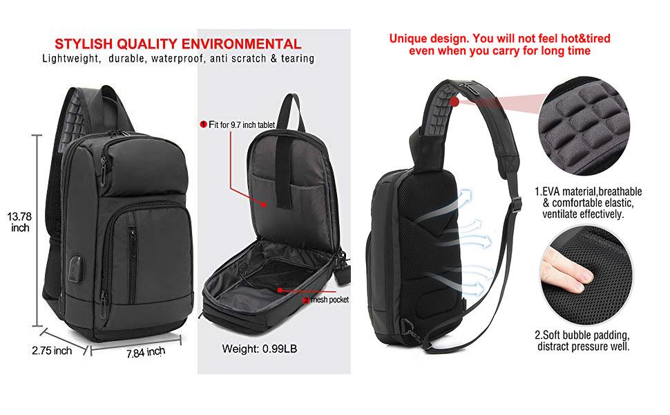 waterproof sling chest bag