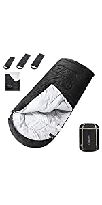 ASHOMELI Camping Sleeping Bags For Adults Dark Gray Extra Wide