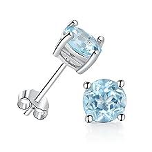925 sterling sliver opal stud earrings for women