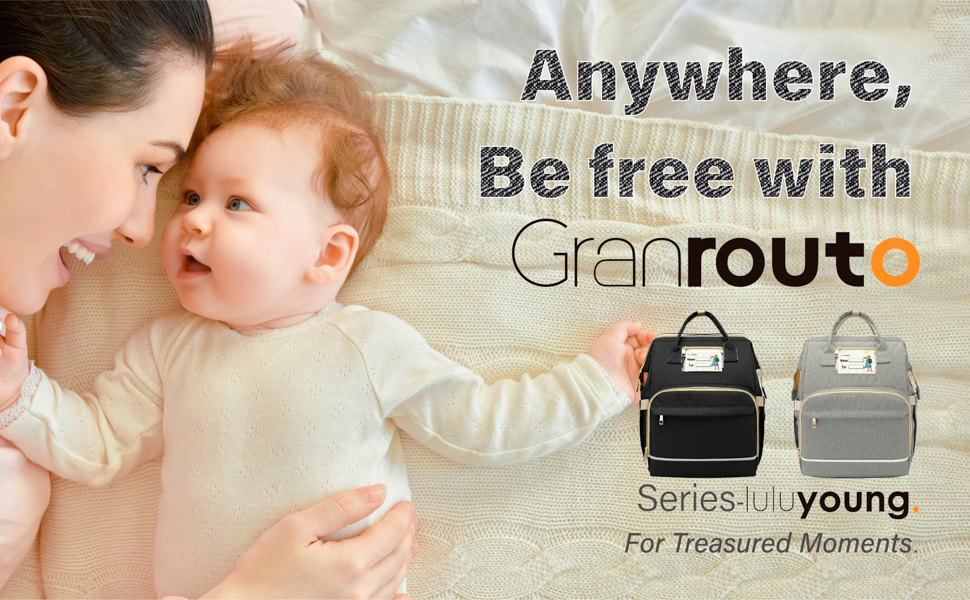 Granrouto baby diaper bag with changing station