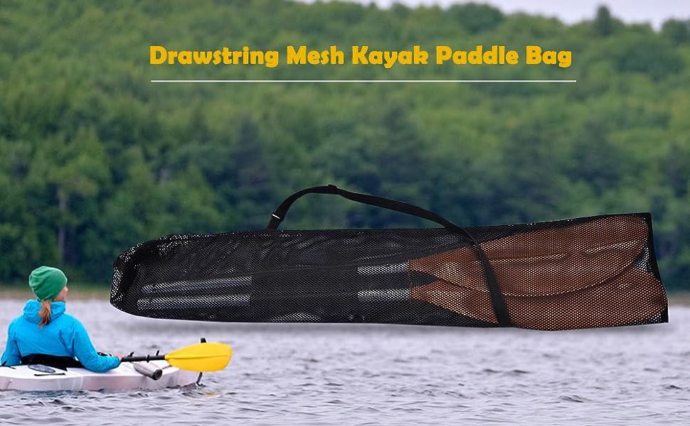 Drawstring Paddle Bag Split Shaft Kayak Canoe Boat Paddles Storage Transport