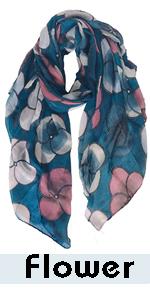 flowers scarf for women lightweight wra