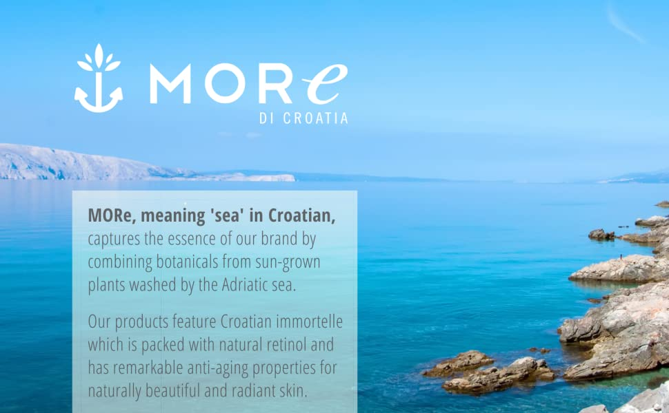 More di croatia dubrovnik gold sun naturally immortelle plants sea beauty anti aging cosmetics