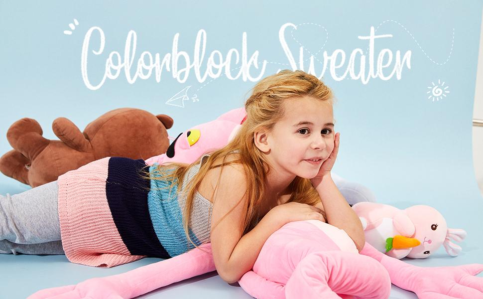 Girls Colorblock Sweater Vest