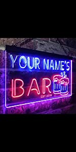 ADVPRO LED neon sign Personalized home bar beer  fonts text clear dual-colors bright light