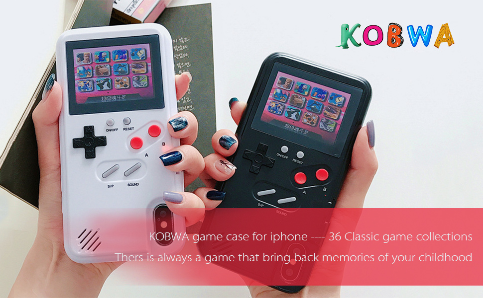 Amazon Com Gameboy Case For Iphone Retro Gameboy Design Style Silicone Cover Case With 36 Small Games Color Screen Gameboy Cover For Iphone Xs X Xsmax Xr 8 8plus 7 7plus 6 6plus Iphone 6 7 8 White