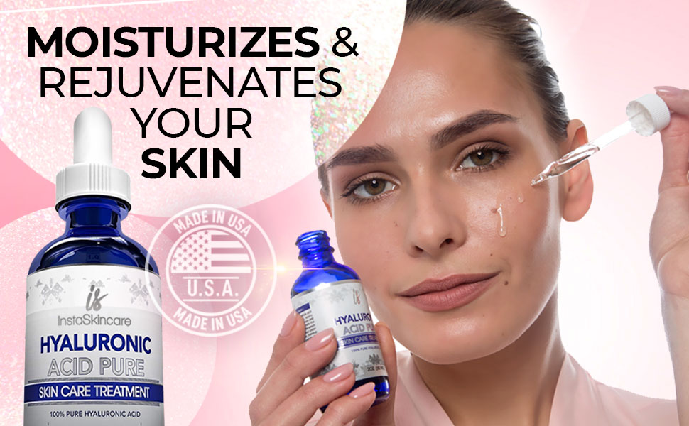 hyaluronic acid moisturazes and rejuvenates your skin
