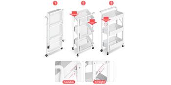 folding storage cart