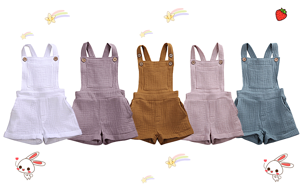 toddler boy overalls 2t 3t 4t 5t solid color plain summer clothes 2 3 4 5 years old rompers outfit