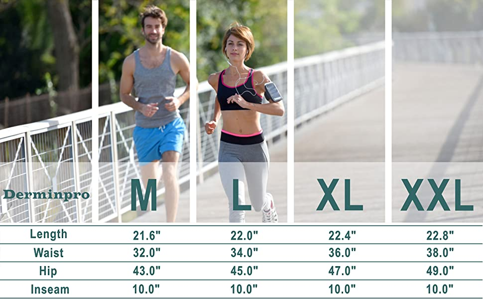 size chart of mens summer outdoor shorts
