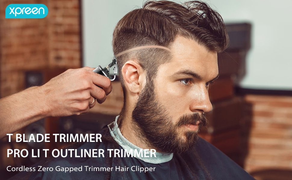t blade trimmer pro t outliner trimmer cordless zero gapped trimmer hair clipper for men