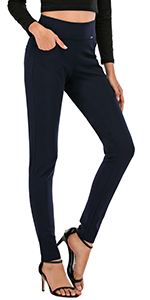 Women's Casual Comfort Fit High Waist Pants Stretch Thickening Leggings