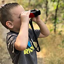 Red Binoculars Real binoculars for kids Red