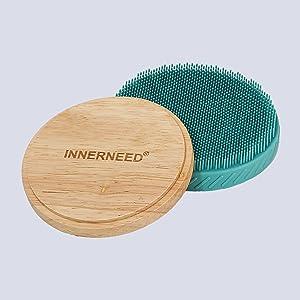 silicone body scrubber back exfoliating brush