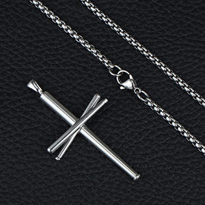 Details of Baseball Cross Necklace
