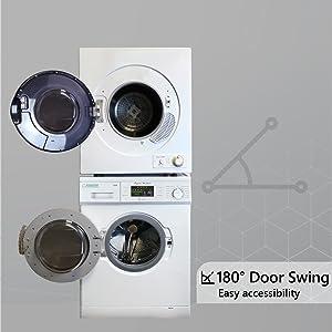 180 degrees door swing