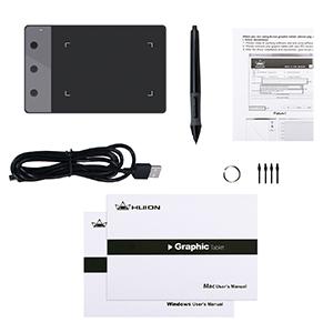 Huion 420 - Tableta Gráfica Digitalizadora, tamaño pequeño (10.1 x ...