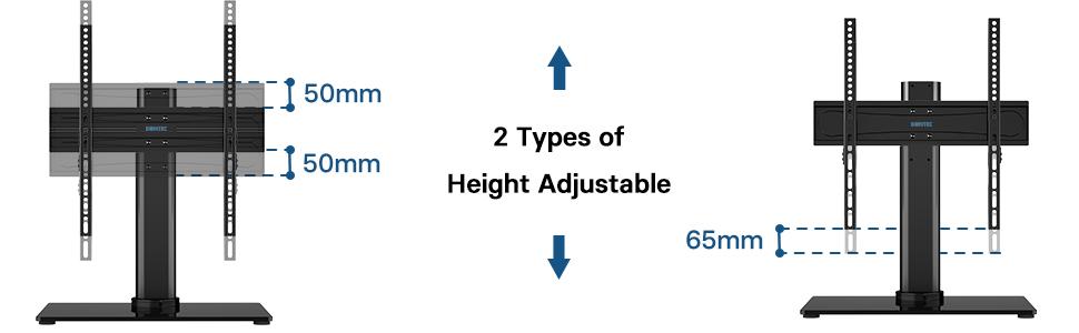 2 rodzaje regulacji wysokości