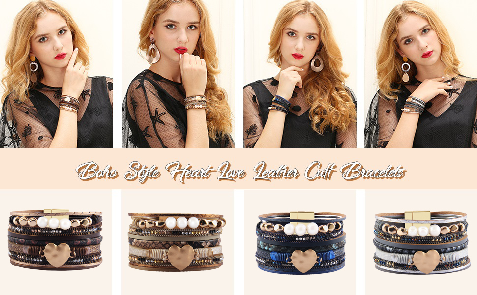 pearl leather cuffs