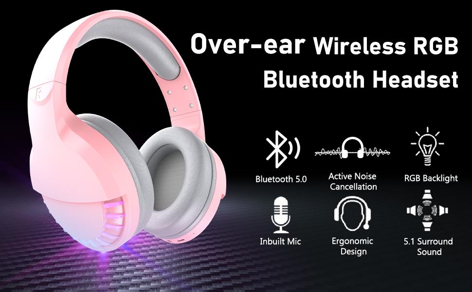 wireless bluetooth gaming headset