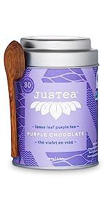 purple chocolate loose leaf organic fair trade tea