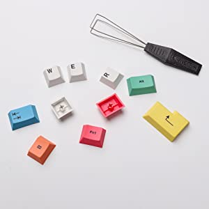HK Gaming Dye Sublimation PBT Chalk Keycaps Thick PBT