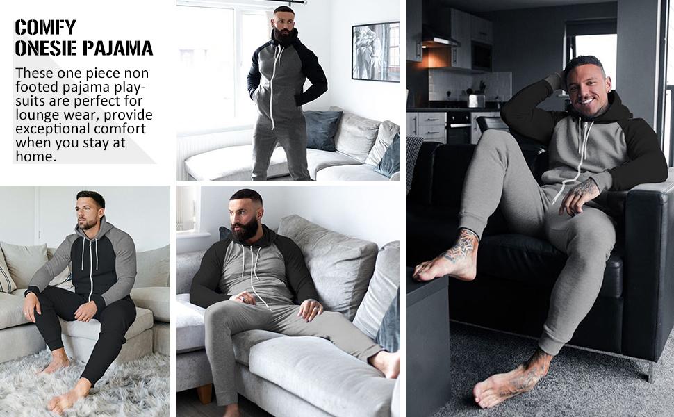 men pajama playsuit