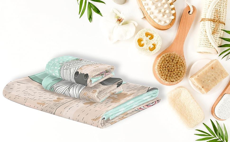 Soft Luxury Decorative Set of 3 Towels