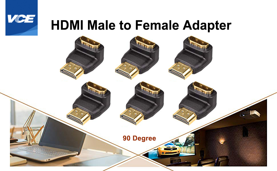 HDMI 90 Degree Male to Female Adapter