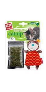 gigwi catnip cat toy bear refillable