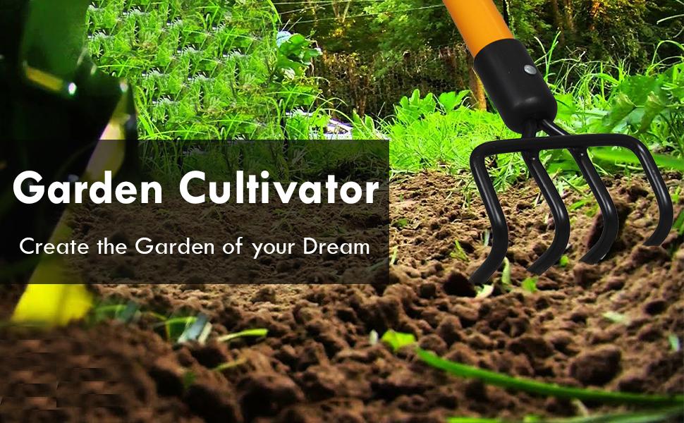 Ashman Garden Cultivator – Sturdy Hand Tiller/Cultivator