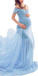 chiffon maternity dress for photography
