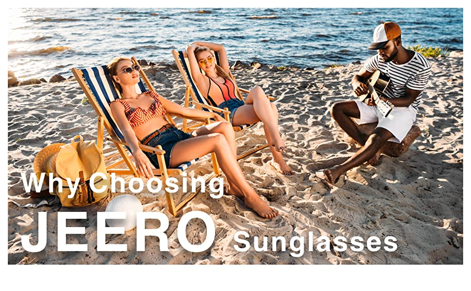Polarized Sunglasses for Women/Men UV400 Protection Mens Durable Trendy JEERO Sun Glasses