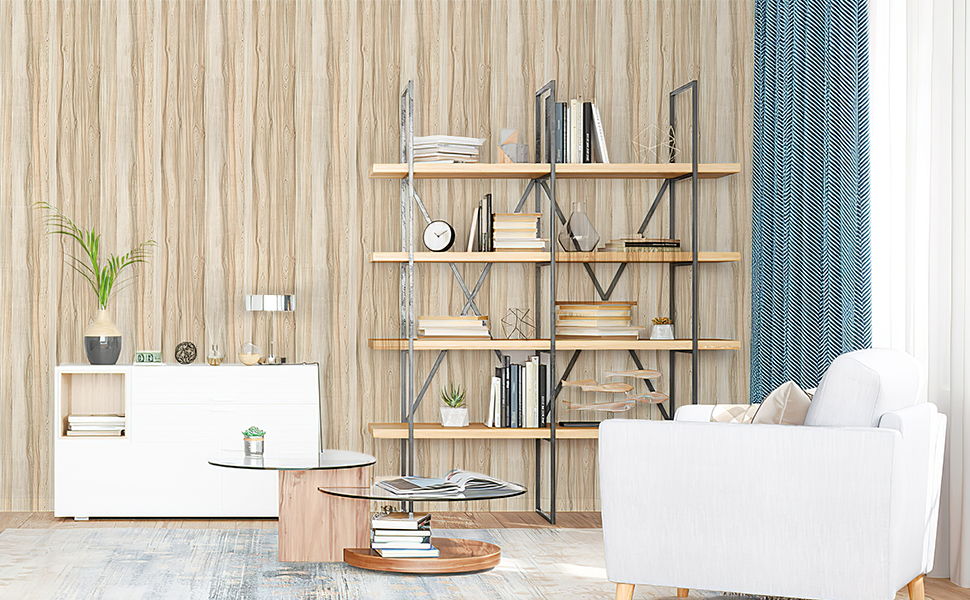 Concus T Wood Grain Wallpaper Peel And Stick Contact Paper Self Adhesive Shelf Liner Wall Covering Removable Furniture Decorative Sticker For Wall Cabinet Desk Countertop Oak 17 72x236 22