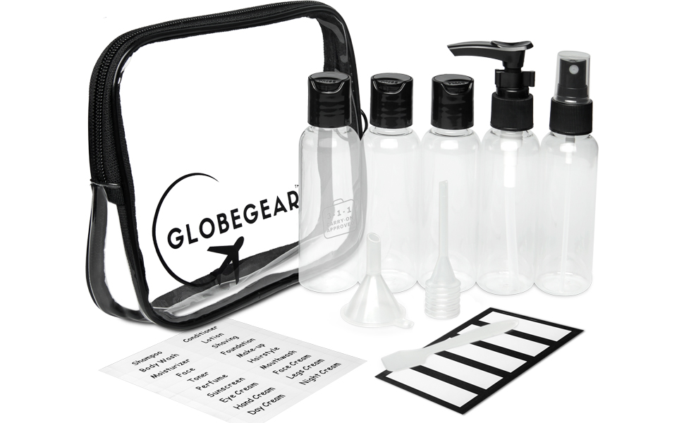 travel bottles containers liquids tsa 311 accessories leak proof carryon toiletries clear approved
