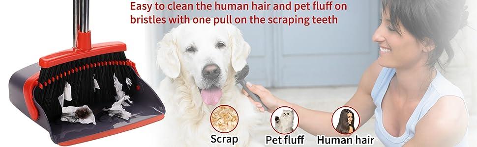 dog hair broom dustpan with brush