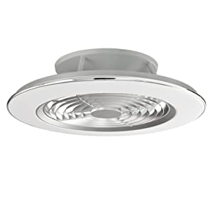 Plafón con ventilados ALISIO - Iluminación interior MANTRA - LED 70W Ventilador 30W - Dimable 2700K-5000K - color blanco: Amazon.es: Iluminación
