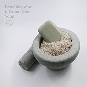 dead sea mud, green clay, soap, natural, triple milled
