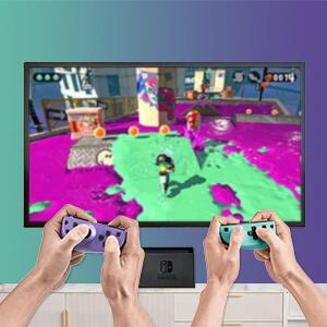 Nintendo-Switch-Jon-Con-Controllers-Purple-Green-wireless