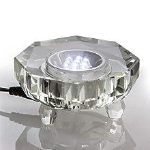 Led crystal base display crystal base rotate 7 light