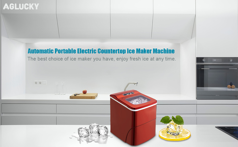 Aglucky Automatic Portable Electric Counter top Ice Maker Machine