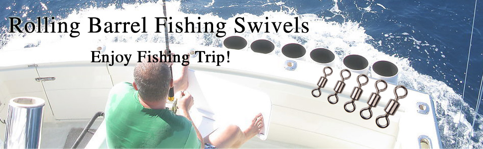 Rolling Barrel Fishing Swivel