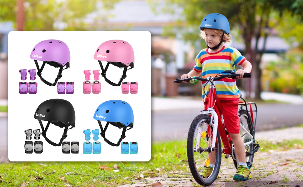 Kid Helmets, Knee Pads, Elbow Pads, and Wrist Guard
