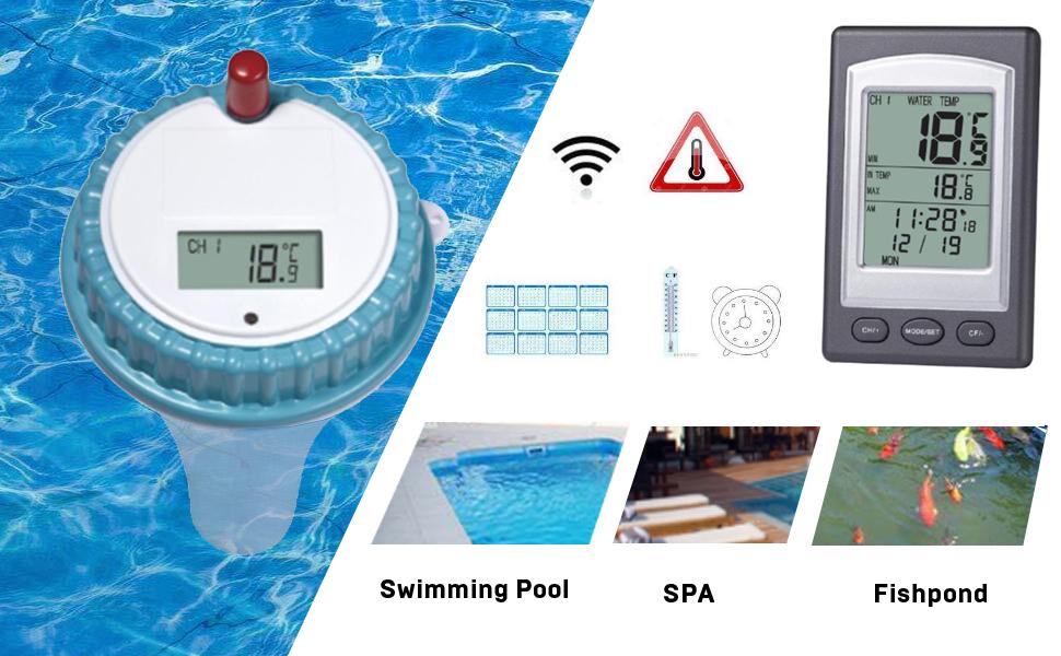 Wasserthermometer Baby Kleinkind Poolthermometer Wassersensor Temperatur Tester