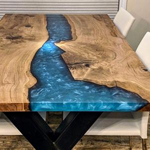 Epoxyhars-tafel.