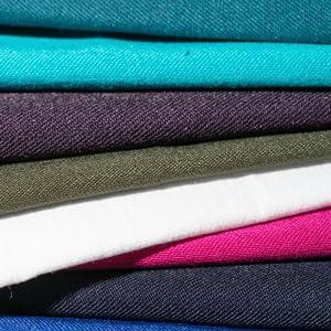 a colourful selection of fabrics