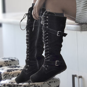 generation y women womens boots leather riding motorcycle casual comfort trendy knee high over knee