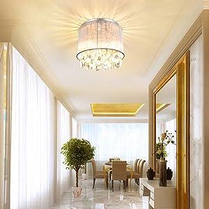 hallway crystal chandelier