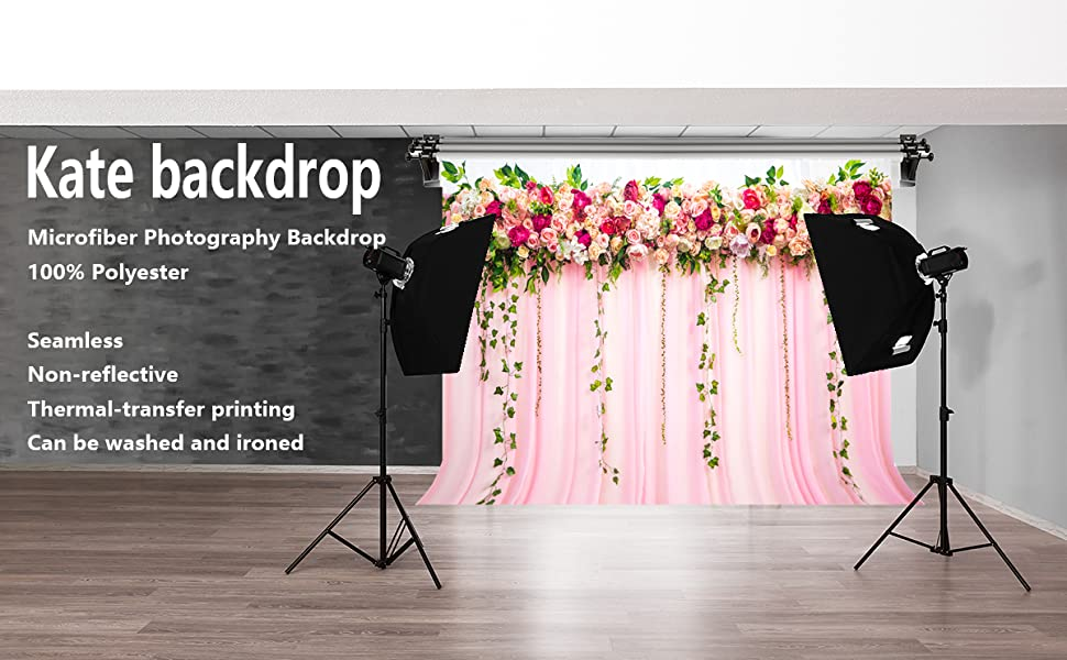 7/×5ft Background Wall Drop Pink White Stripes F Backdrop Banner Shower Photography Christmas Decoration Backdrop Photo Booth Props Photography Backdrops Photography Background Background Banner