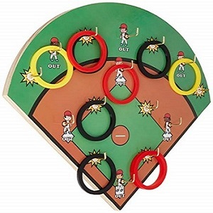 Hook-A-Hit ring toss board and rings